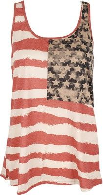 Vintage American Flag Tank. So I can finally have a legitimate Fourth of July outfit.