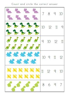 First Grade Math Worksheets, Preschool Worksheets, Numbers Preschool, Free Preschool, Kindergarten Readiness, Preschool Kindergarten, Preschool Projects, Kids Learning Activities, Math For Kids