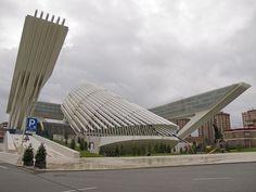 """Palacio de Exposiciones y Congresos de Oviedo ) by Santiago Calatrava.... It's saying """"Pleas, tear me down"""""""