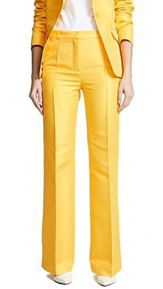 Saree Jacket Designs, Saree Jackets, Suits For Women, Ladies Suits, Casual Work Wear, Classic Skirts, Colored Pants, Office Attire, Mellow Yellow