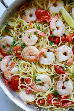 Creamy Shrimp and Sun-Dried Tomatoes Pasta - the best one-pot pasta you can make, with shrimp and sun-dried tomatoes in a rich creamy sauce   rasamalaysia.com