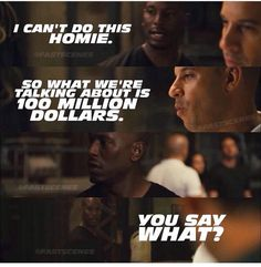 Fast five... Roman needed to grow some balls, which by the end of the movie, he did lol