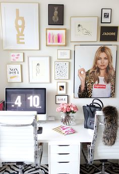 pretty desk space | made by girl