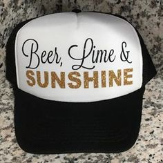 Summer days = Beer, Lime and Sunshine!! $15 Message me your order! #lcscustomdesigns #personalizedhats #momhats #truckerhats #beerlimeandsunshine #summertime Mom Hats, Trucker Hats, Cute Hats, Bad Hair, Cricut Ideas, Summer Days, Teacher Gifts, Don't Care, Baseball Cap