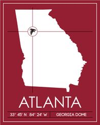 Atlanta Falcons Wooden Sign By BentwoodCustoms On Etsy - Map of us rooting for falcons