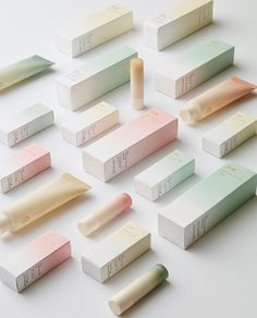 Beauty packaging pastels