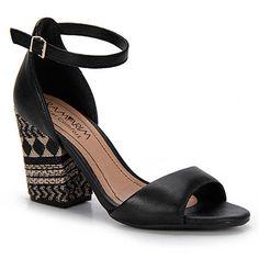Sandália Salto Conforto Feminina Ramarim - Preto