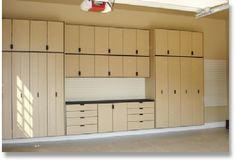 Garage Storage- loooove it! I HATE clutter! If I can't see it I'm happy!