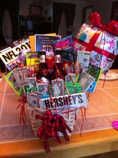I Attempted To Make A Birthday Gift Basket For My Boyfriends Bday And NAILED It Came Out Awesome By Gail