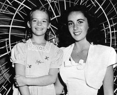Natalie Wood and Elizabeth Taylor they looked alike when nat grew up