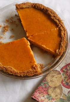 Sweet Potato Pie with Brown Sugar Whipped Cream and a graham cracker and ginger crust- read and it sounds amazing