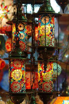 colorful Morrocon lanterns