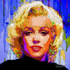 Marilyn Monroe. Pop Art Digital Art by Rafael Salazar