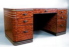 Bauhaus, Muebles Art Deco, Art Et Architecture, Art Deco Desk, Art Nouveau Furniture, Art Deco Posters, Art Deco Period, Woodworking Furniture, Retro