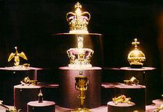 The Crown Jewels - stored in the Tower of London.