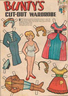 Bunty Comic Book Paper Doll 5