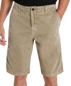 Lucky Brand Solid Flat-Front Shorts