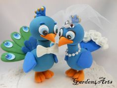 NEW  Custom Love Peacock Couple Wedding Cake Topper by Garden4Arts, $100.00