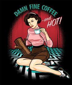 Twin Peaks illo by Dr. Monster (Travis Pitts). Oh, Audrey.