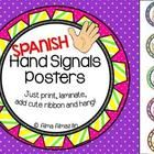 ***SPANISH I had so much fun creating the clip art for my hand signals posters! All you have to do is print, laminate, add your favorite ribbon, or...
