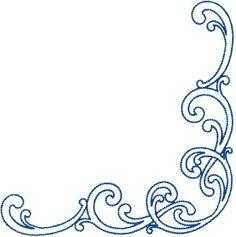 Design #11, Combo, Corner, chain stitch (from French Curve Connection) elegant swirls #machineembroidery #scrolls #fashion #decorative