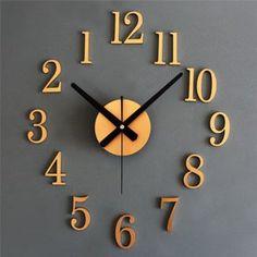 クロック ウォールステッカー 時計を壁面に自由自在に設置できます  アラビア数字 TC-2