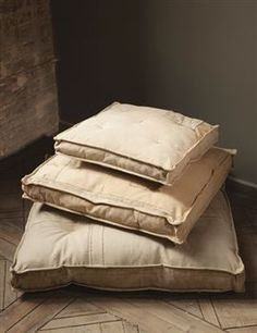 recycled canvas box cushions