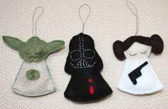 Star Wars felt ornaments free pattern