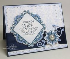 IC418 Lavender and Navy Inspiration by angelladcrockett - Cards and Paper Crafts at Splitcoaststampers