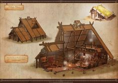 Cutaway picture of a Viking house.the door is in the wrong place, for a typical Viking house the door should be off center on one of the walls. Viking House, Viking Life, Medieval, Conan Exiles, Viking Village, Build Your House, Viking Culture, Norse Vikings, Iron Age