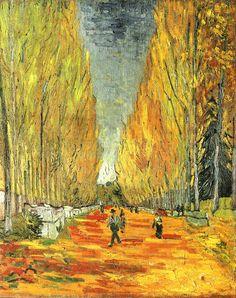 Les Alychamps - Vincent van Gogh 1888
