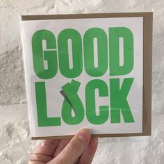 The freshest card on the street! Now in lucky green #goodluckcards #handprinted