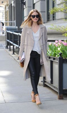 Long cardigan with casual top