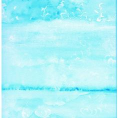 Abstract Watercolor - Resist in Turquoise