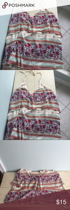 O'Neil boho halter top Super cute boho halter top. Size M but runs large. In excellent condition. Tops Tank Tops