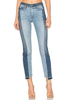 GRLFRND Karolina High-Rise Skinny Jean em Thunder Road | REVOLVE