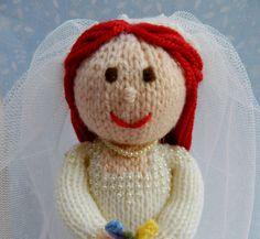 Beatrix - Bride Doll - Toy Knitting Pattern by Joanna Marshall, £3.00 GBP