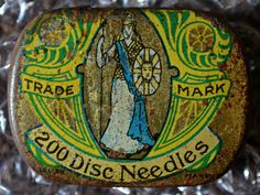 Vintage needles tin
