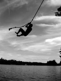 Carefree. Love. Live. Let it loose.. Literally. Imagine those few seconds before you hit the water when you are literally flying... <3