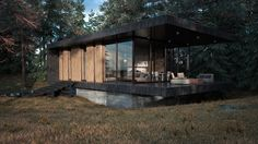 House in the woods on Behance