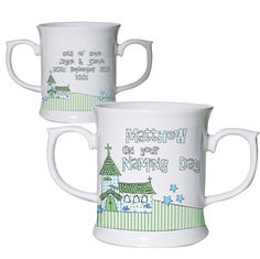 Whimsical Blue Church Occasion Loving Mug £12.95 Can also be printed for 'Christening' & 'Baptism'