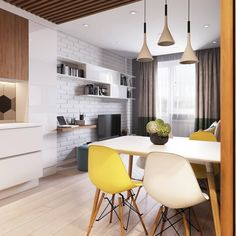 Kitchen decorations and interior ideas, which look so nice and popular! Purchase our kitchen supplies with a big SALE right now! Condo Living, Home Living Room, Living Room Designs, Living Room Decor, Apartment Interior, Apartment Design, Design Studio, House Design, Dinner Room