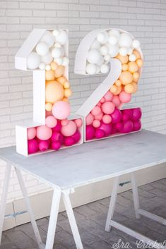 Birthday Balloon Decorations, Birthday Balloons, Birthday Party Decorations, Baby Birthday, 1st Birthday Parties, Ideas Para Fiestas, Diy Crafts, Giant Letters, 3d Letters
