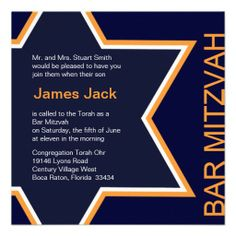 Star of David Bar Mitzvah Orange & Blue Invite today price drop and special promotion. Get The best buyHow to Star of David Bar Mitzvah Orange & Blue Invite Review from Associated Store with this Deal...