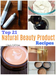 Top 21 Natural Beauty Product Recipes from Simple Life Mom. Natural makeup hair products anti aging acne lotions and salves and more. All natural ingredients herbal and essential oil options - frugal green living with zero waste. Dyed Natural Hair, Natural Hair Styles, Skin Care Regimen, Skin Care Tips, Acne Detox, Autogenic Training, Mascara, Puffy Eyes, Shampoo Bar