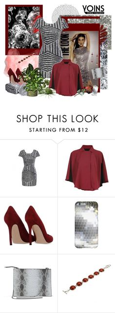 """""""Party Yoins Dress"""" by carola-corana ❤ liked on Polyvore featuring Gianvito Rossi, women's clothing, women's fashion, women, female, woman, misses, juniors and yoins"""