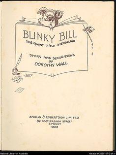 Blinky Bill sleeve.