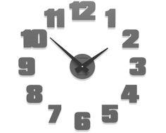 Big wall clock Raffaello (50 cm) quartz grey
