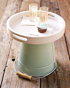 bucket & tray for outdoor funiture