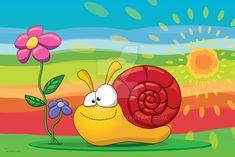 Happy Snail by Tooshtoosh